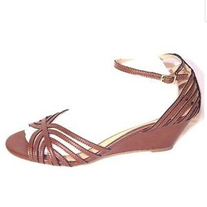 Montego Bay Club Wedge Heels, brown,  size 10